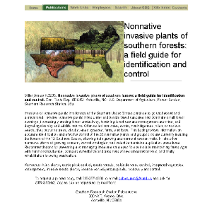 Thumbnail for Nonnative Invasive Plants of Southern Forests: A Field Guide for Identification and Control